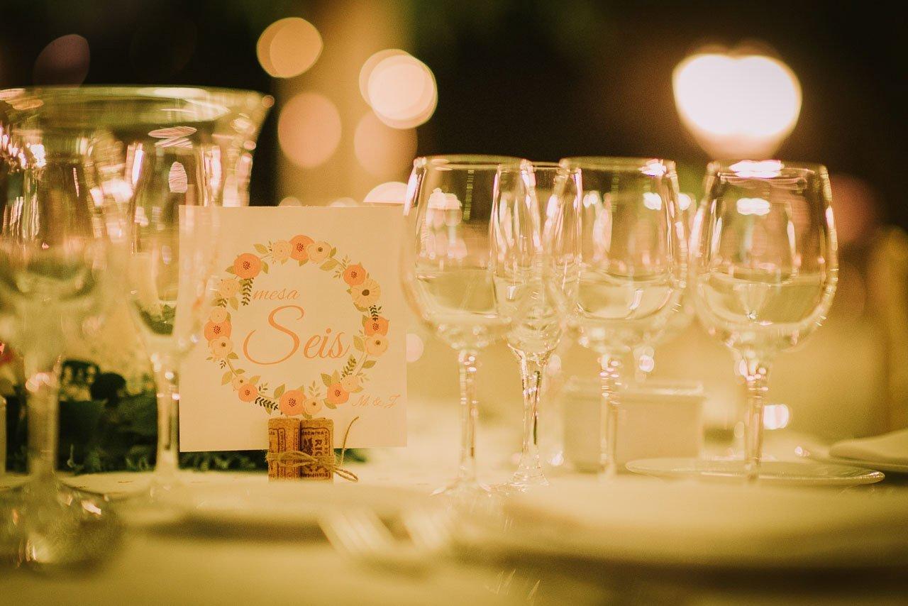 detalles mesa de boda