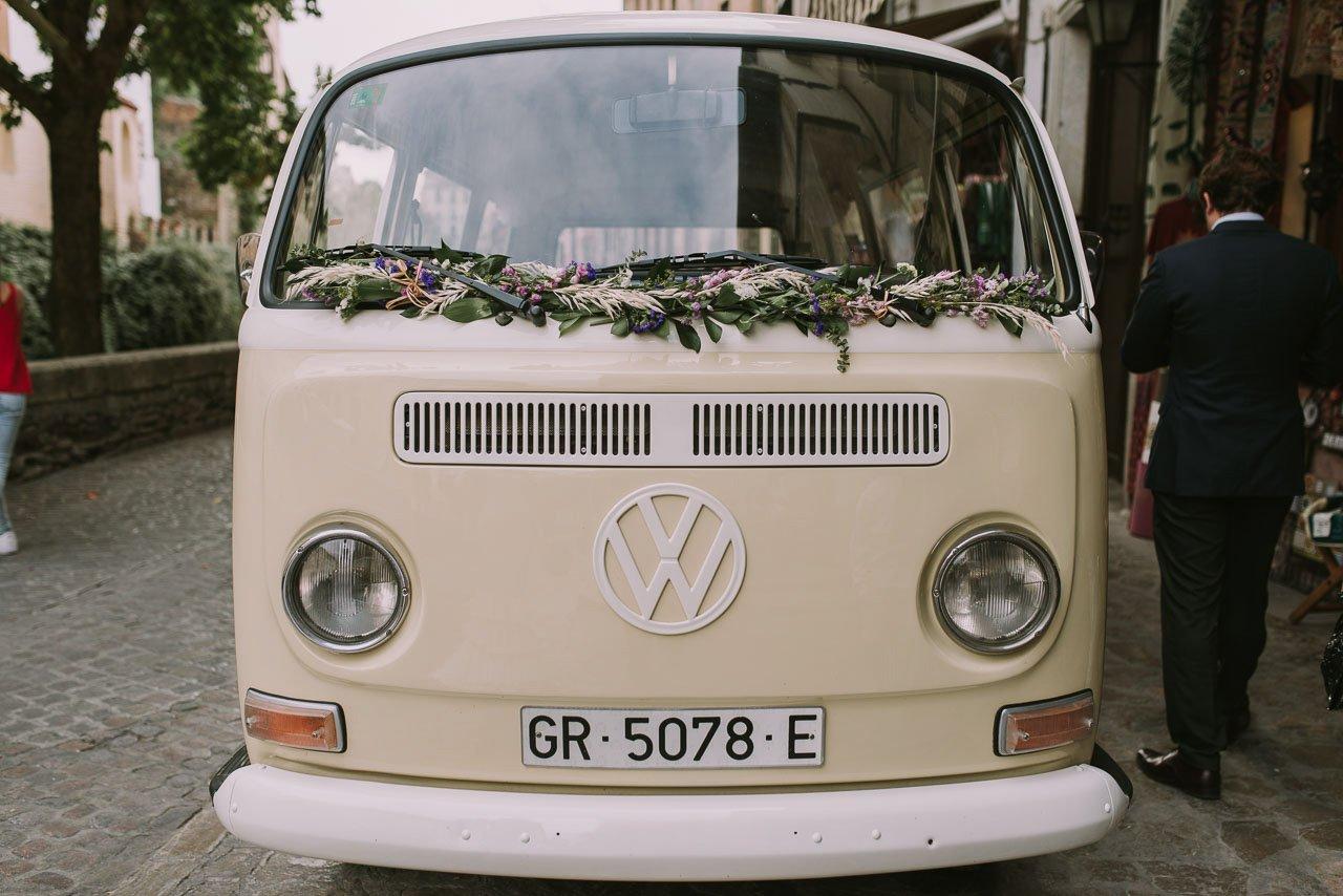 boda con volkswagen vintage T1