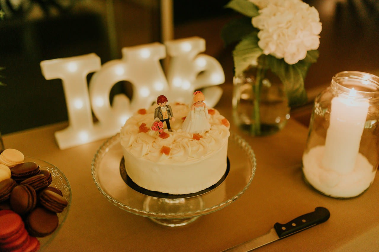 pastel de boda con lego