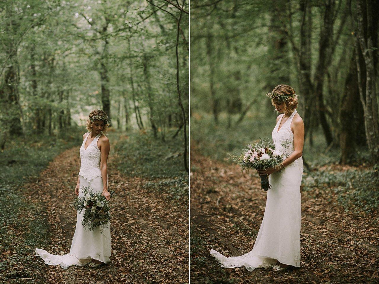 Inspiración para vestidos de novia y ramos de novia