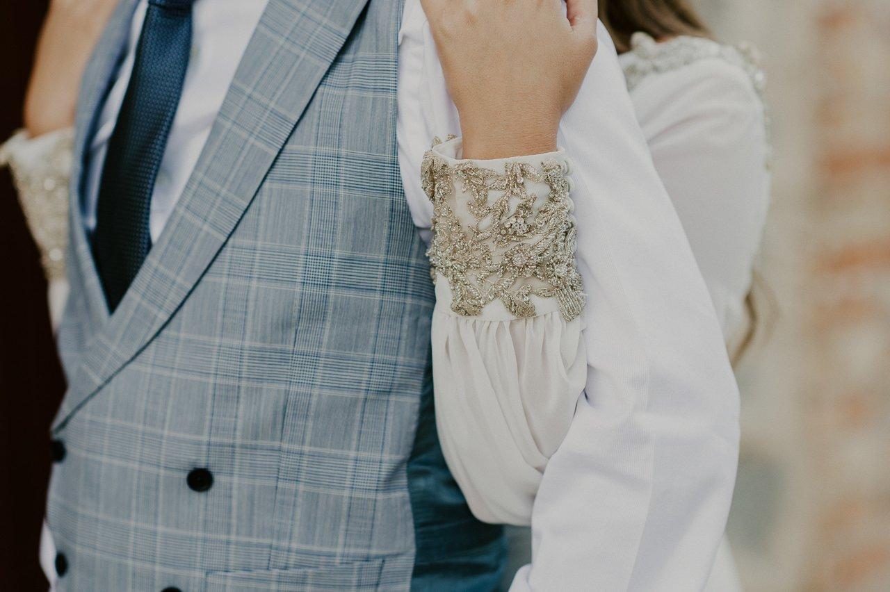 detalles vestido novia