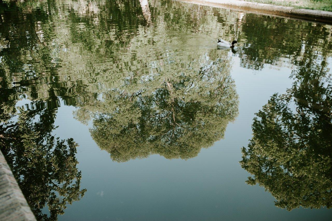 Estanque del parque Maria Luisa en Sevilla