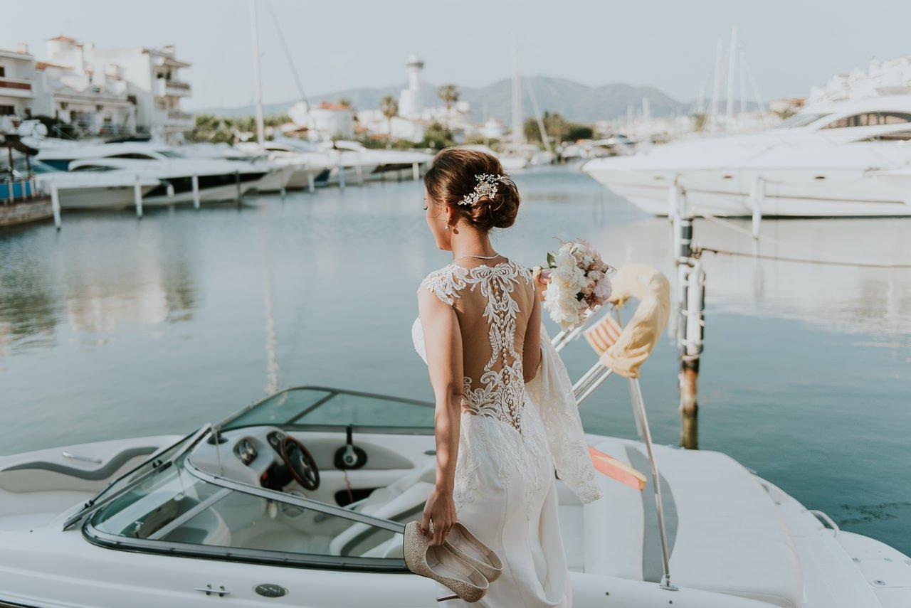 fotógrafo de bodas en Girona Empuriabrava