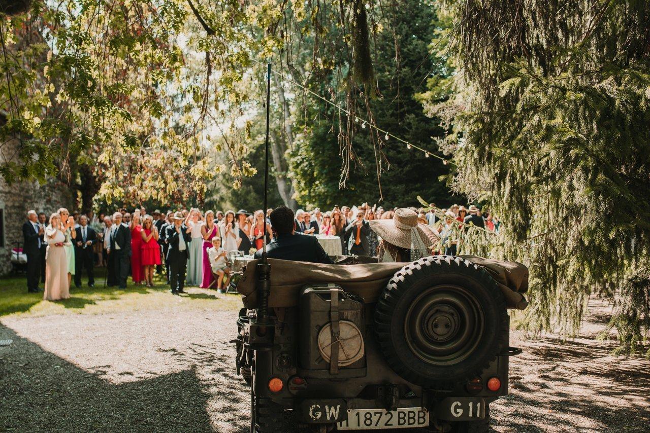 boda con moto bultaco
